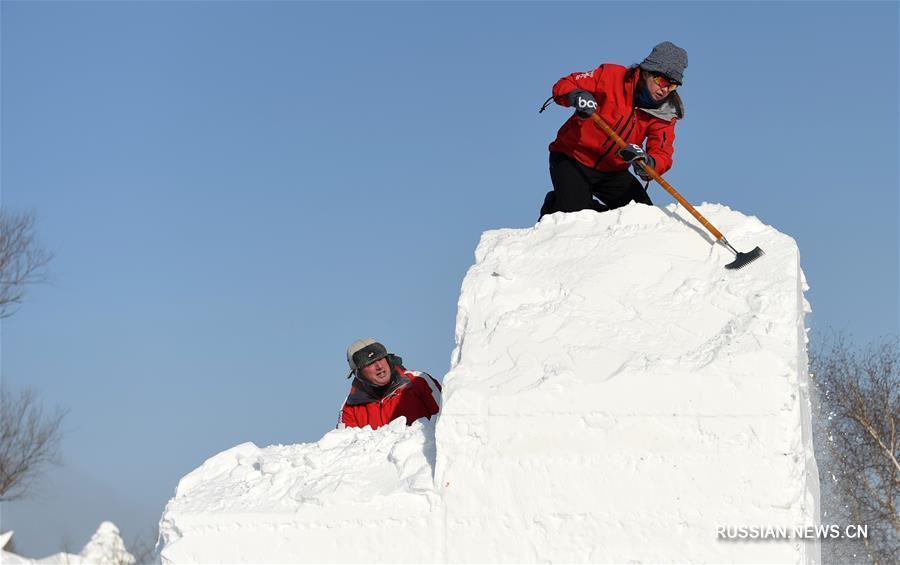 В Харбине стартовал 23-й Международный конкурс снежных скульптур