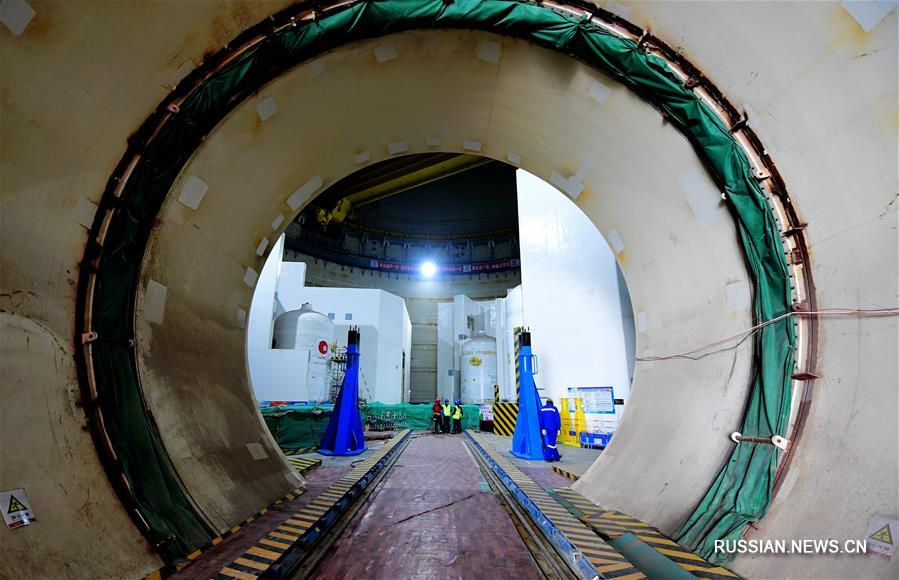 """На Фуцинской АЭС началась установка корпуса ядерного реактора """"Хуалун-1"""""""