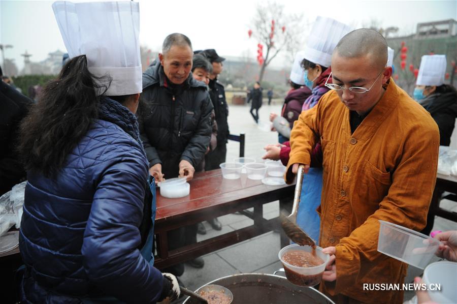 Горячая праздничная каша в холодный зимний день