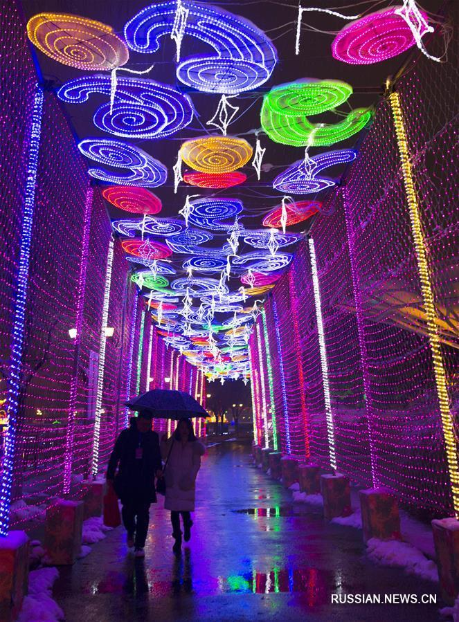 Новогодний фестиваль фонариков открылся в городе Наньтун провинции Цзянсу