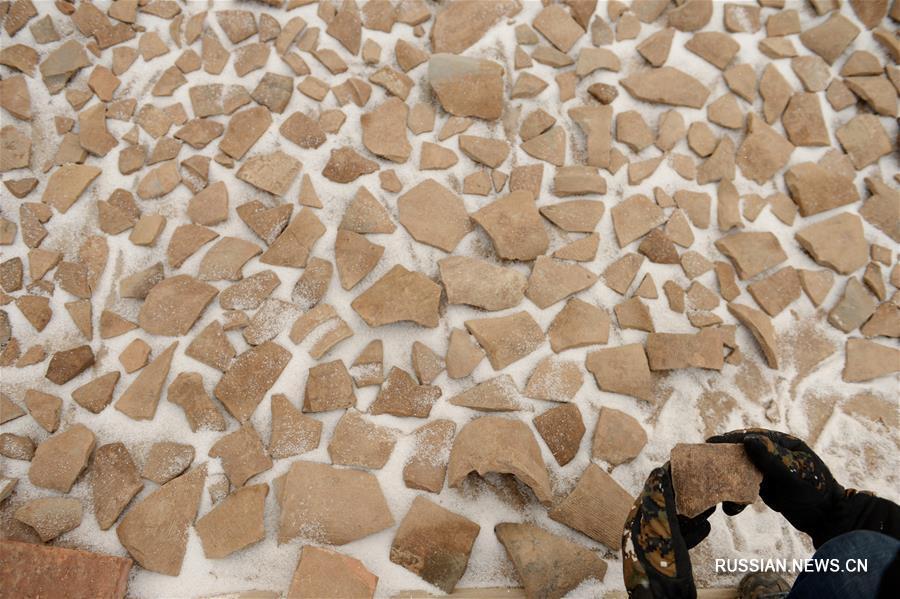 В провинции Шэньси обнаружены развалины крупного казенного склада циньской эпохи