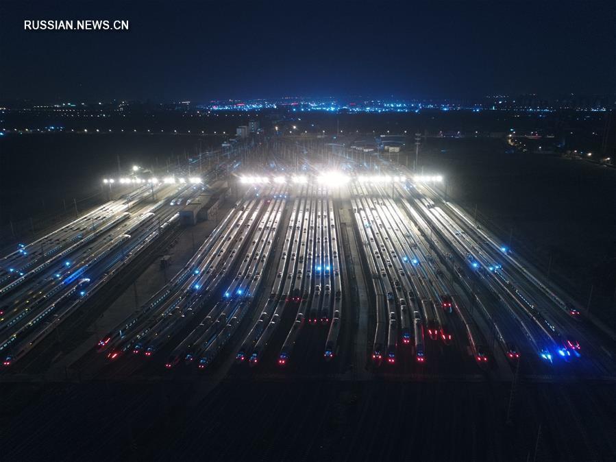 """Пекинские высокоскоростные поезда в полной готовности накануне """"чуньюня"""""""