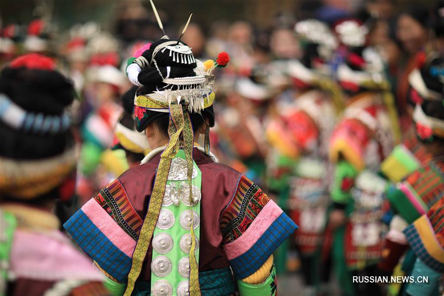 Предновогодний фестиваль лушэна в мяоской деревне