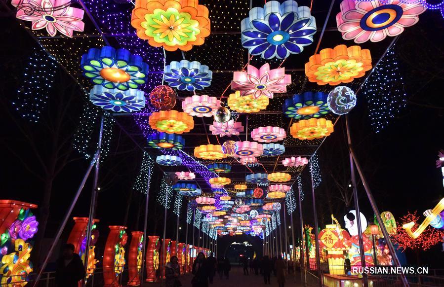 В Цзыбо открылся художественный фестиваль цветных фонарей
