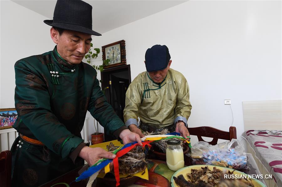 Во Внутренней Монголии прошло традиционное жертвоприношение богу очага