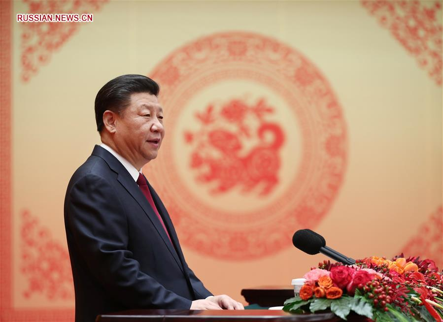 (时政)(1)中共中央国务院举行春节团拜会