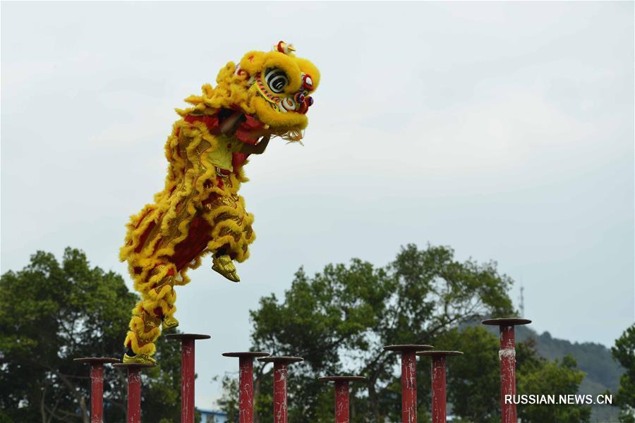 Международный конкурс исполнителей танцев льва и дракона в уезде Фучуань