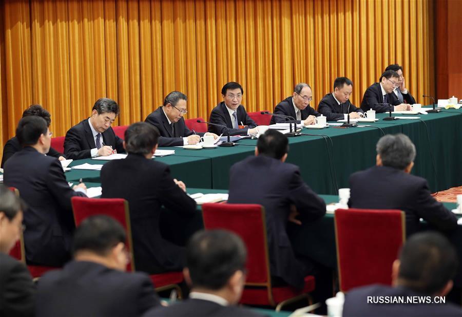 Ван Хунин участвовал в панельной дискуссии с депутатами ВСНП от провинции Аньхой
