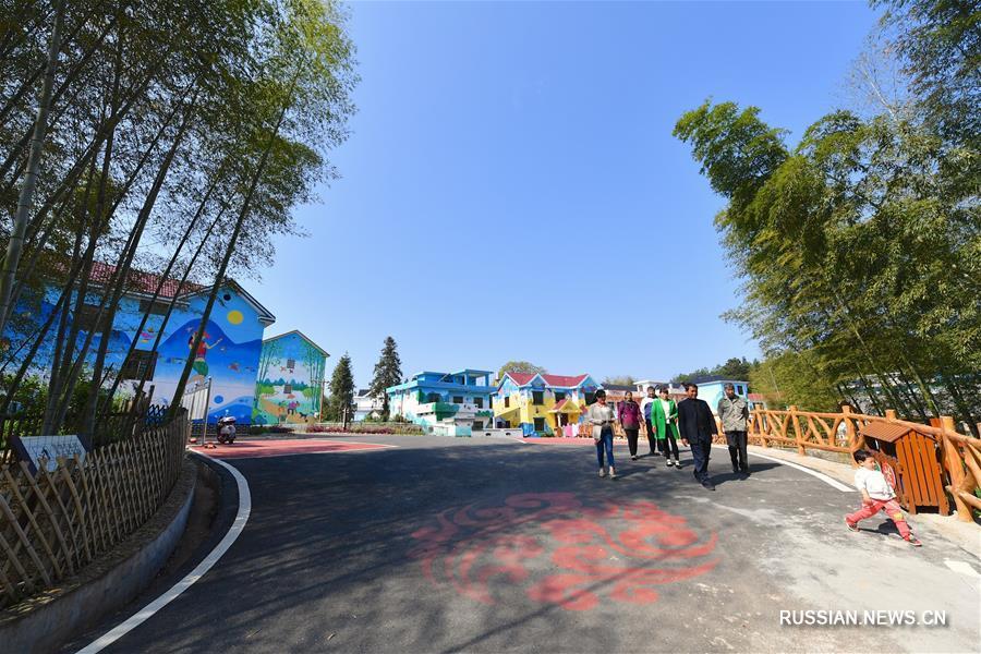 """Весенний день в """"живописной"""" деревне Тяньбэй"""