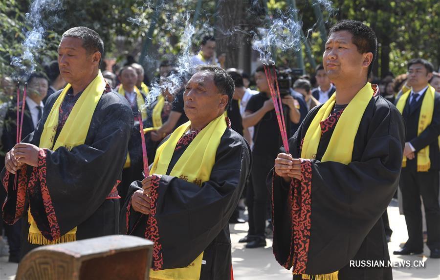 Церемония в память о Чжан Цяне в провинции Шэньси