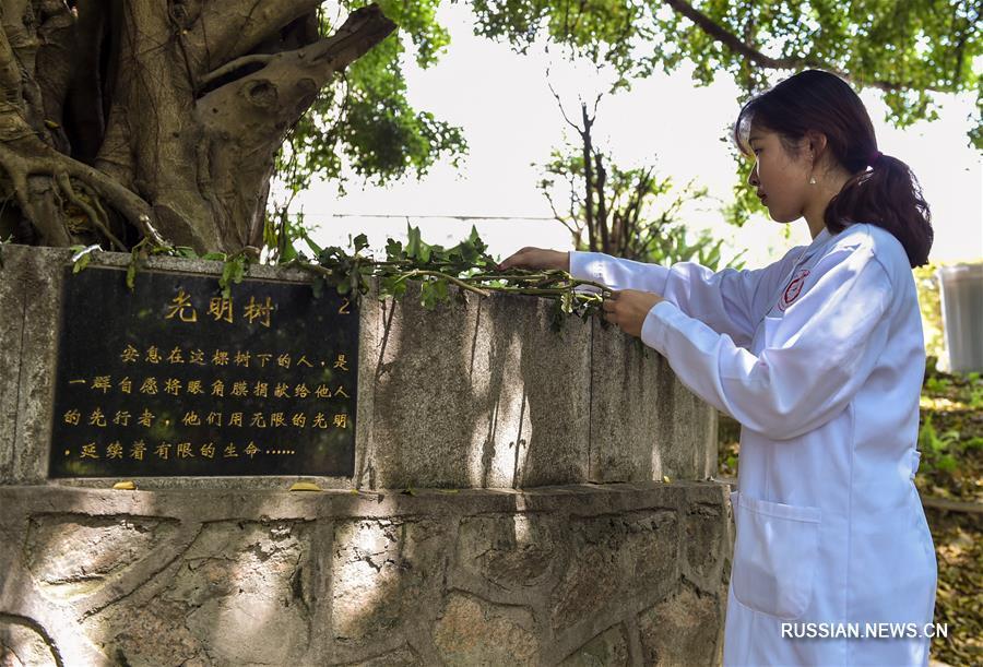 """Акция памяти медицинских доноров """"Древо света"""" в Шэньчжэне"""