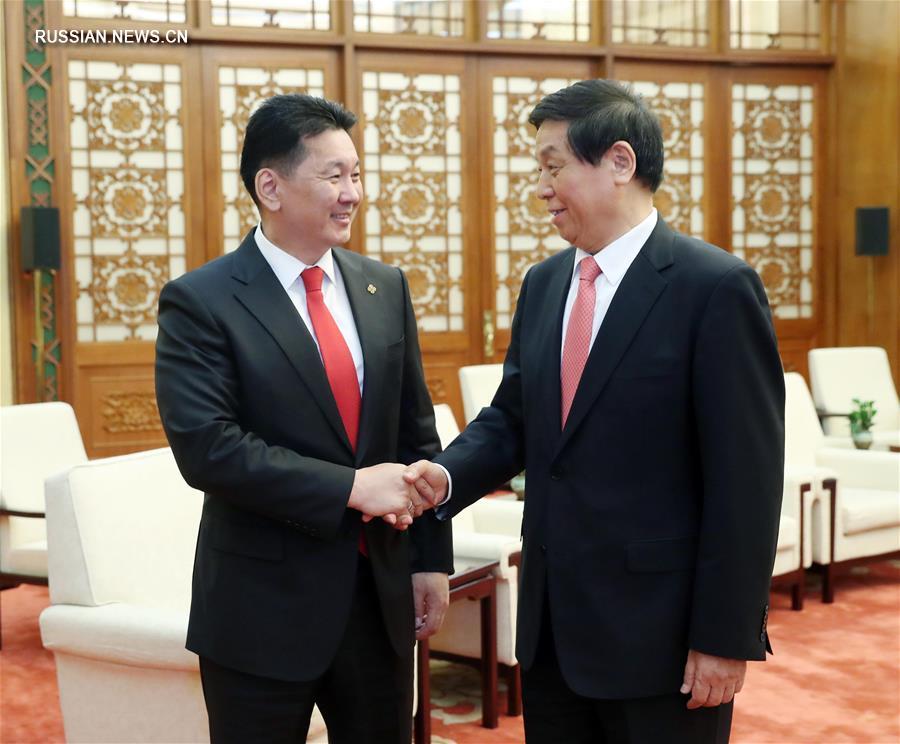 Ли Чжаньшу встретился с премьер-министром Монголии