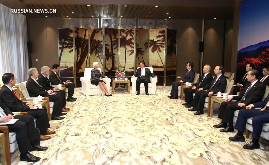 Си Цзиньпин встретился с директором-распорядителем МВФ К.Лагард