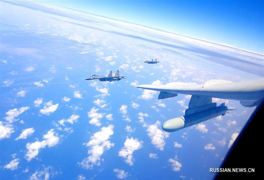 """Самолеты ВВС НОАК различных типов совершили организованные """"островные патрулирования"""" для повышения боеготовности"""