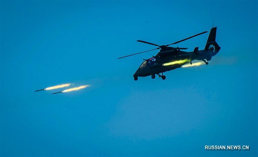 Армейская авиация НОАК провела суточные надводные учения у юго-восточного побережья