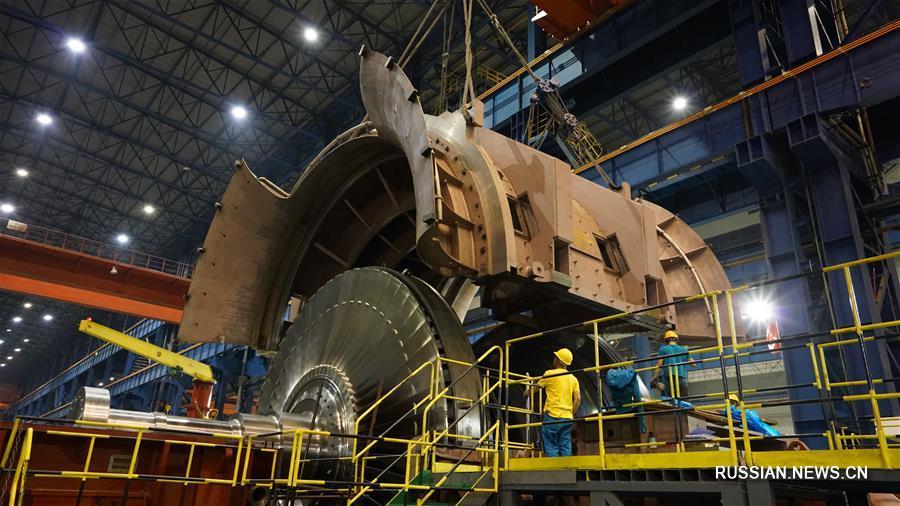 """Завершена сборка основного турбинного оборудования для первого реактора """"Хуалун-1"""""""