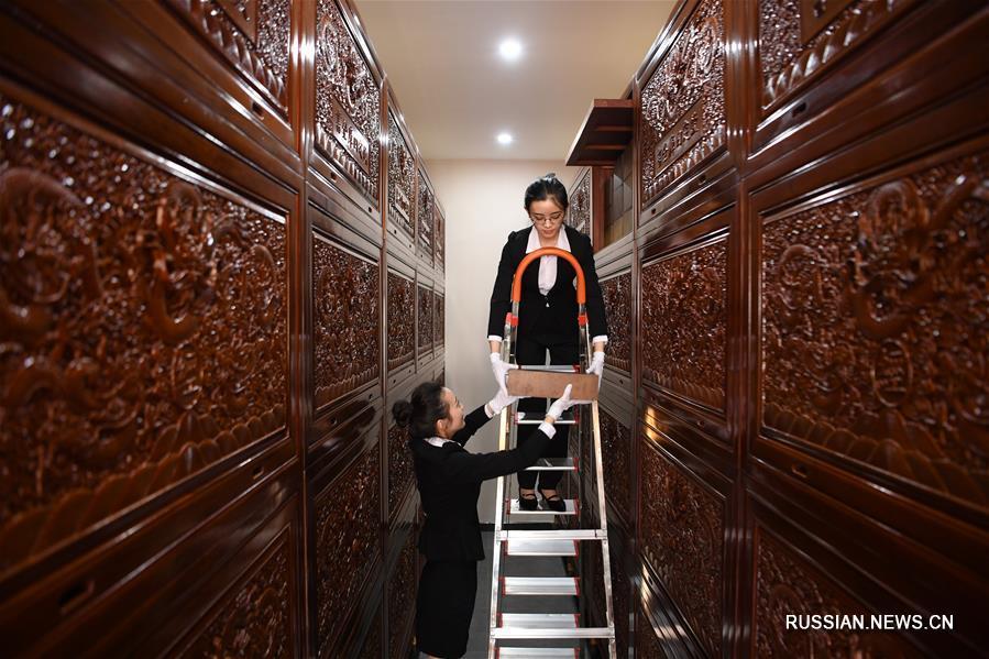 """Книгохранилища с энциклопедией """"Сыку цюаньшу"""" в Ланьчжоу"""