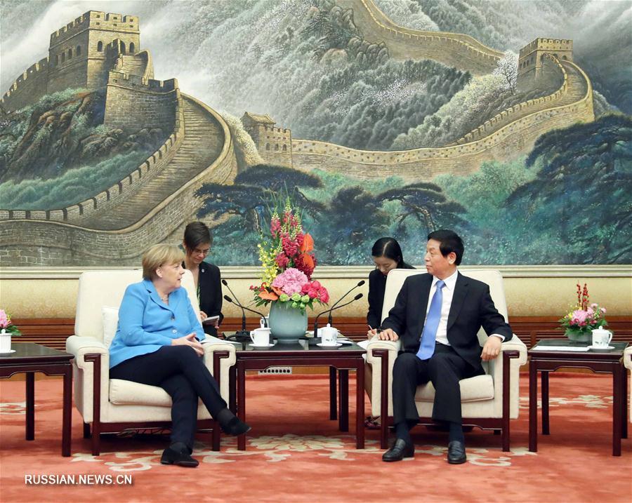 Ли Чжаньшу встретился с канцлером Германии А.Меркель