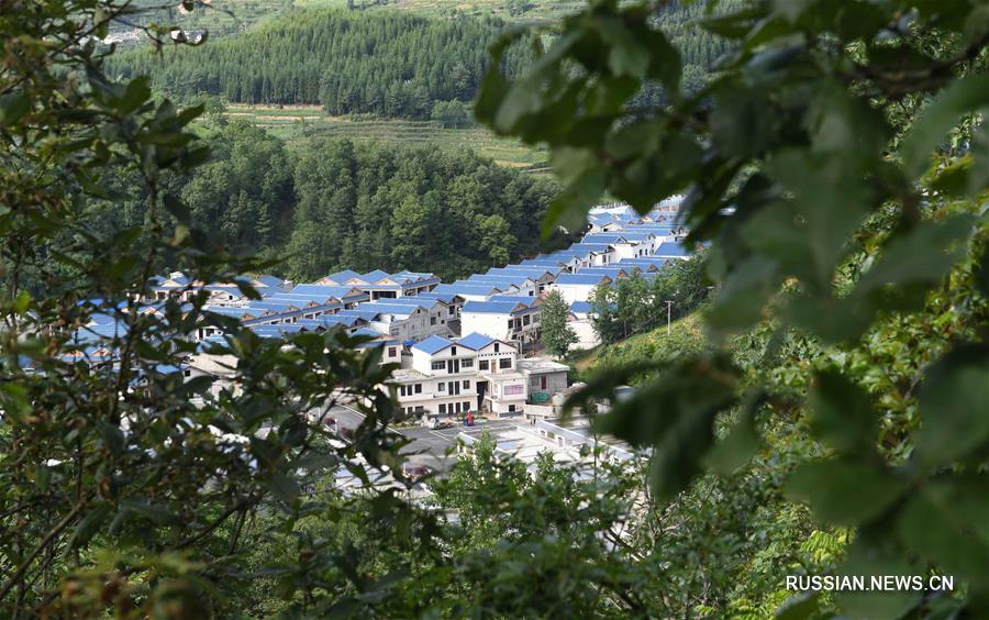 Красивая деревня в горах