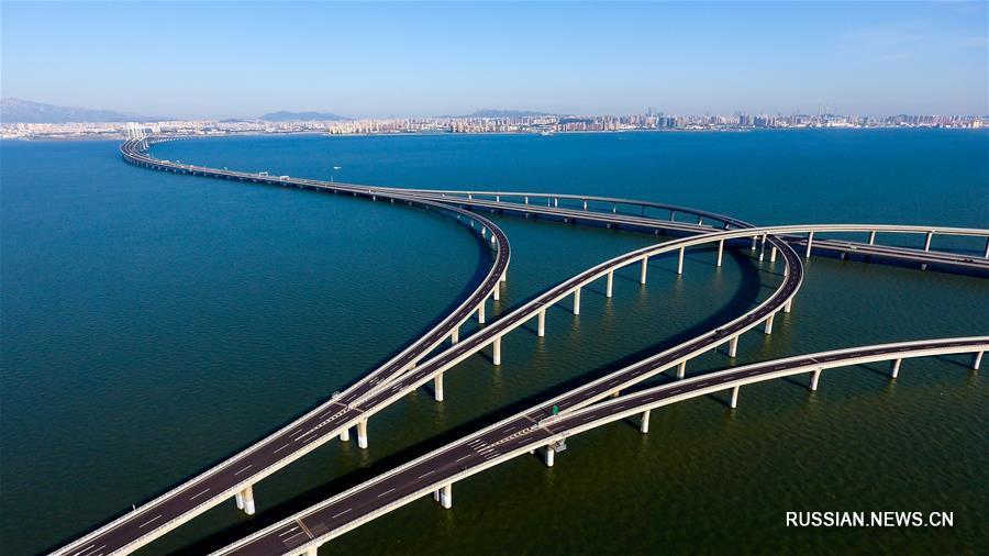 Цзяочжоуваньский мост в Циндао