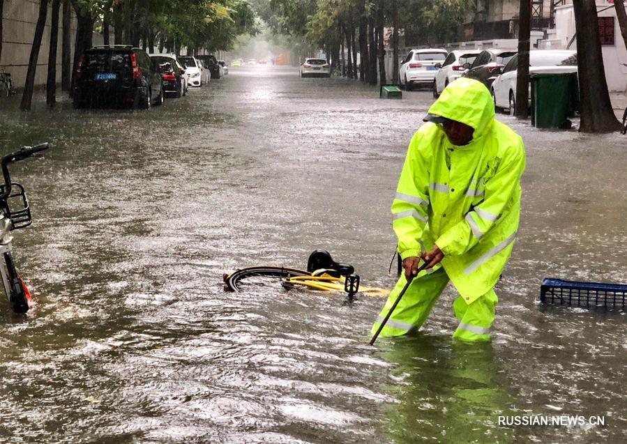 Сильные дожди обрушились на Пекин и близлежащие районы