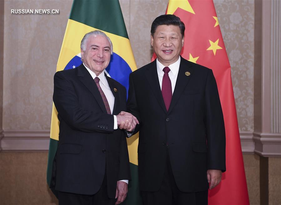 Си Цзиньпин встретился с президентом Бразилии М. Темером