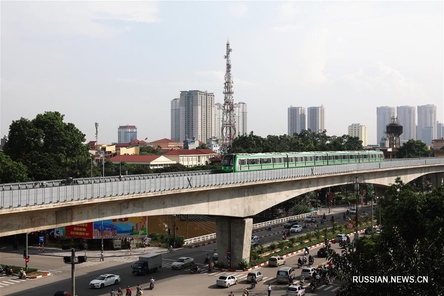 Построенная Китаем первая вьетнамская линия легкого метро готова к вводу в эксплуатацию