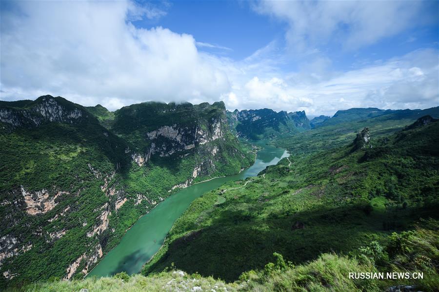Прекрасные пейзажи ущелья реки Бэйпаньцзян в провинции Гуйчжоу