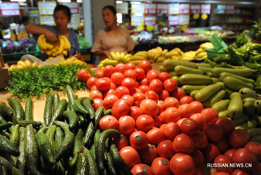 В июле индекс потребительских цен в Китае вырос на 2,1 проц