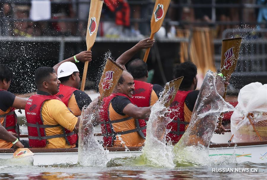28-й Нью-Йоркский фестиваль гонок на сянганских лодках-драконах