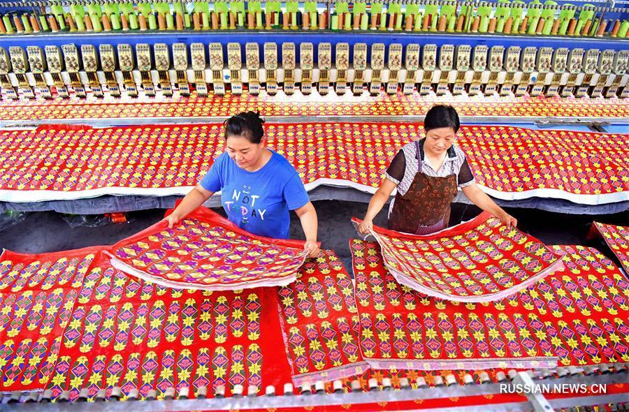 Вязаные изделия и вышивка из уезда Июань провинции Шаньдун