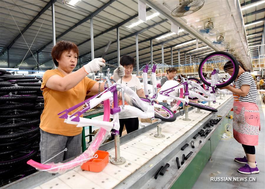 """Благодаря инициативе """"Пояс и путь"""" гуанцзунские детские велосипеды завовевывают международный рынок"""