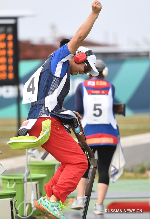Китаянка Чжан Синьцю завоевала золото в стрельбе по тарелочкам на 18-х Азиатских играх