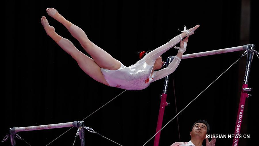 18-е Азиатские игры -- Спортивная гимнастика: китайские гимнастки стали чемпионками в командных соревнованиях