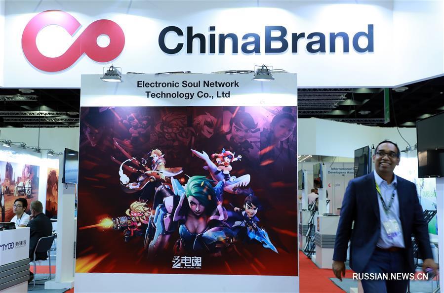 Китайские экспоненты на Международной игровой выставке Gamescom в Кельне