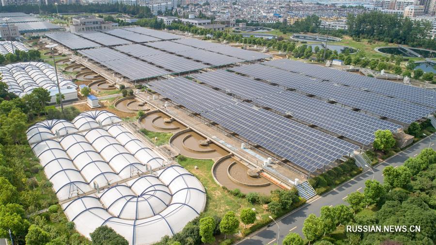 На водоочистной станции в Хэфэе установили солнечные батареи