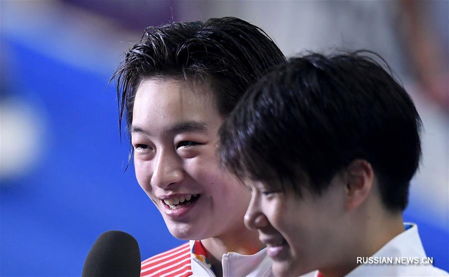 18-е Азиатские игры -- Прыжки в воду: китаянки Чан Яни/Ши Тинмао победили в синхронных прыжках с 3-метрового трамплина