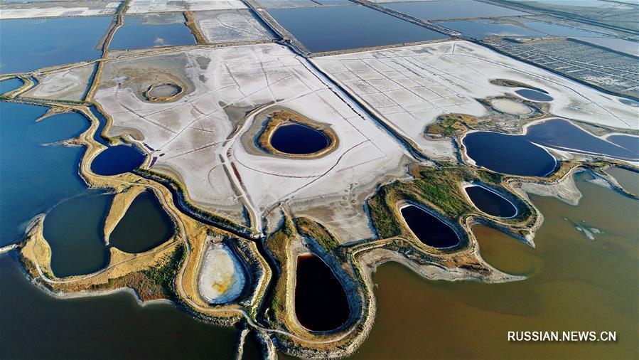Соленые озера в городском округе Юньчэн провинции Шаньси