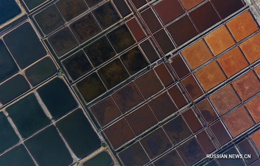 Соляные бассейны в провинции Хэбэй