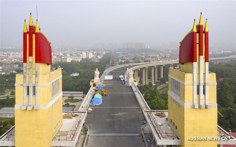 Ремонт Большого моста через Янцзы в Нанкине