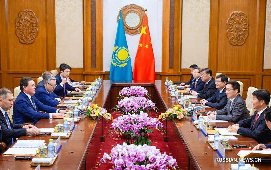 Хань Чжэн провел встречу с первым заместителем премьер-министра Казахстана