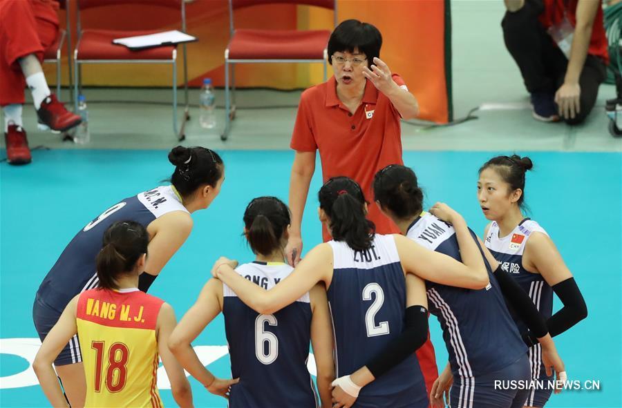Волейболистки сборной Китая обыграли команду США