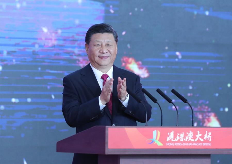 Си Цзиньпин объявил об открытии моста Сянган-Чжухай-Аомэнь