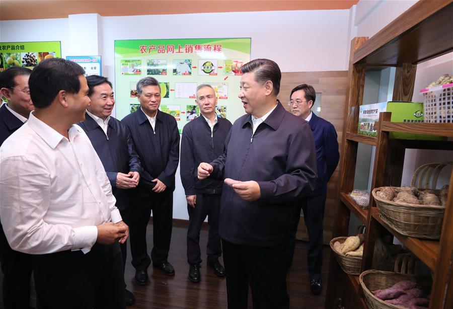 Си Цзиньпин посетил с инспекцией город Цинъюань провинции Гуандун
