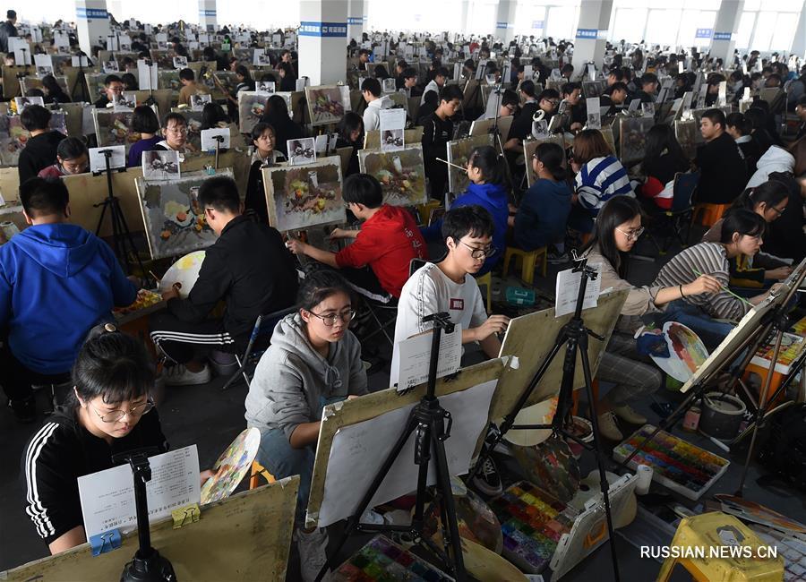 Пробный экзамен для абитуриентов по художественным специальностям в провинции Цзянсу