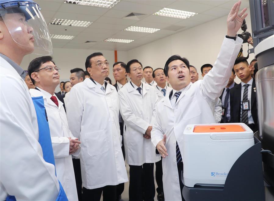 Ли Кэцян сегодня посетил компанию Tessa Therapeutics в Сингапуре