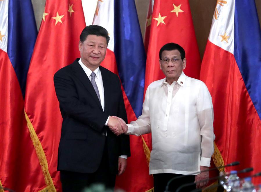 (时政)(2)习近平同菲律宾总统杜特尔特举行会谈