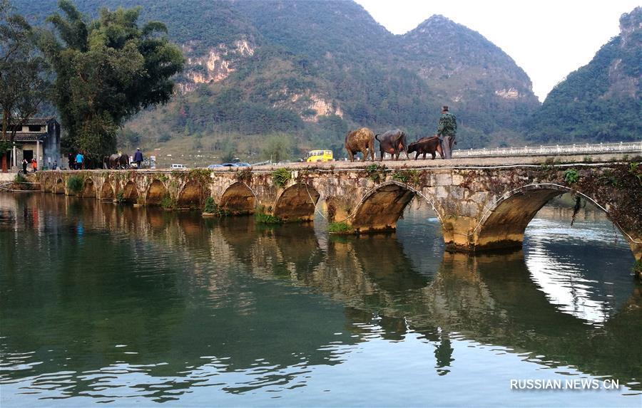 Конец осени в деревне Эцюань Гуанси