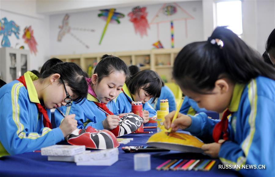 Школьные занятия по традиционной китайской культуре в Синтае
