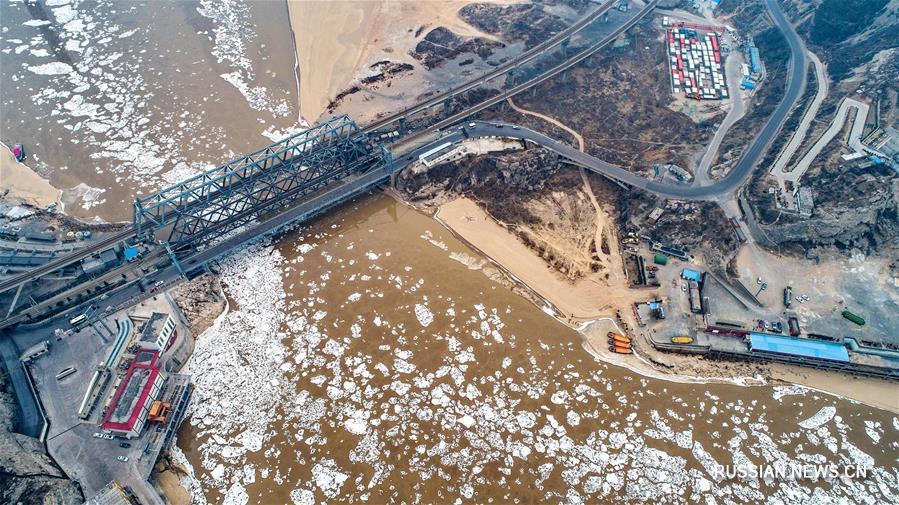 На шаньсийском участке Хуанхэ возник ледоход
